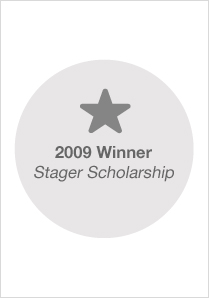 2009 Stager Scholarship Winner